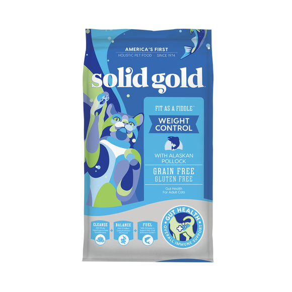 Solid Gold Fit as a Fiddle with Fresh Caught Alaskan Pollock Dry Food for Cats (2 sizes)