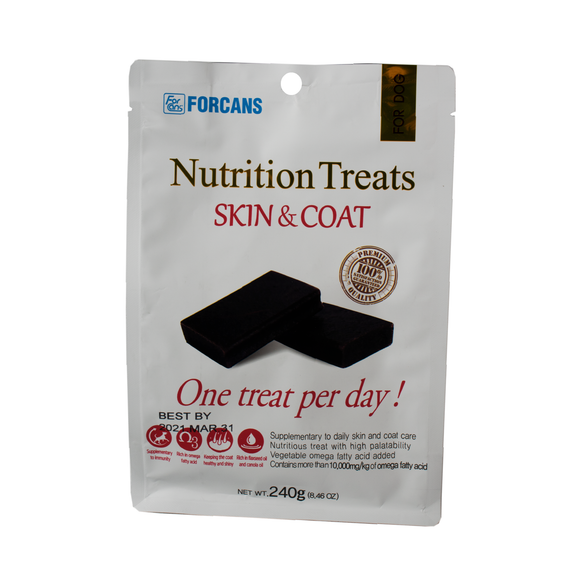 Forcans Nutrition Treats - Skin & Coat 240g