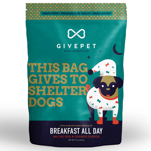 GIVEPET Breakfast All Day Grain Free Small Batch Cookie Treats (340g)