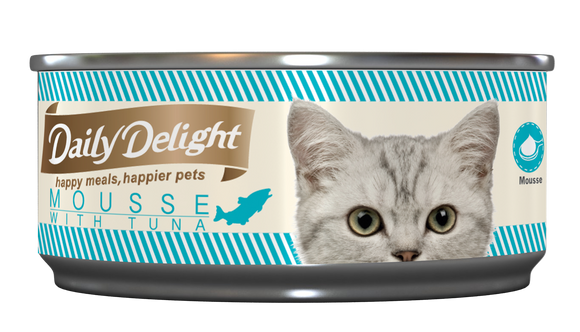 [1carton=24cans] Daily Delight Mousse with Tuna (80g)