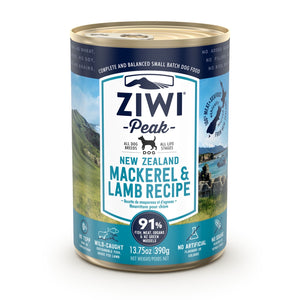 ZIWI® Peak Wet Canned Food Mackerel & Lamb Recipe for Dogs (390g)