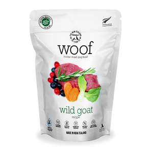 NZ Natural WOOF Freeze Dried Raw Food (Wild Goat) 3 sizes