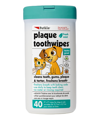 Petkin Plaque Toothwipes