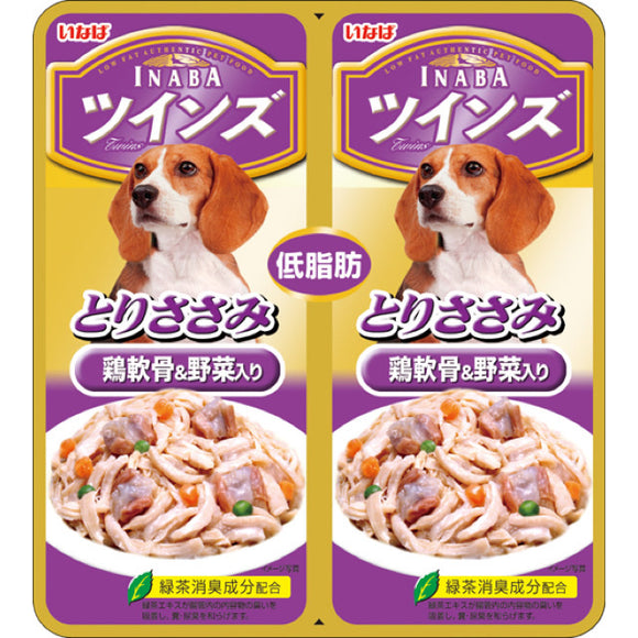 [CTW07] Inaba Chicken Fillet with Cartilage & Vegetable in Jelly Twin Pouch (40gx2)