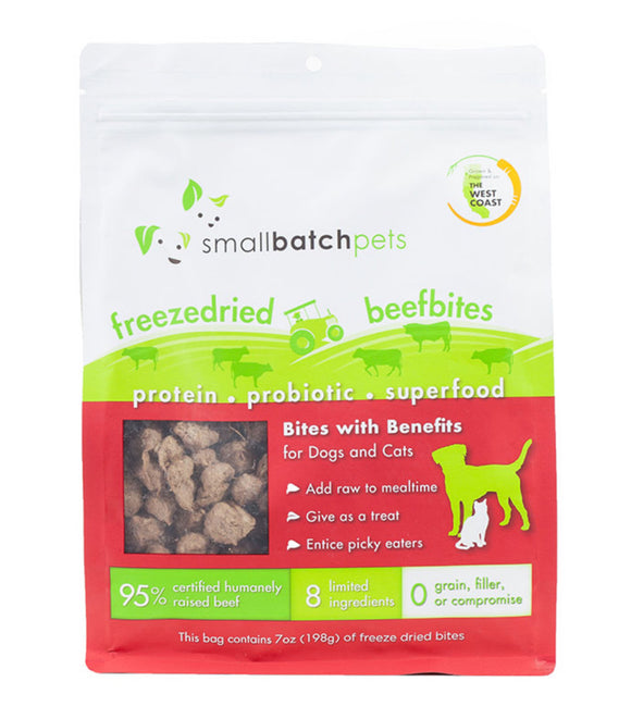 [SBB-4] Smallbatch Freeze-Dried BeefBites Treats for Dogs (7oz)