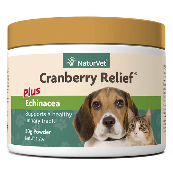 [NV-Cran] NaturVet Cranberry Relief Powder Plus Echinacea (1.7oz/50g)
