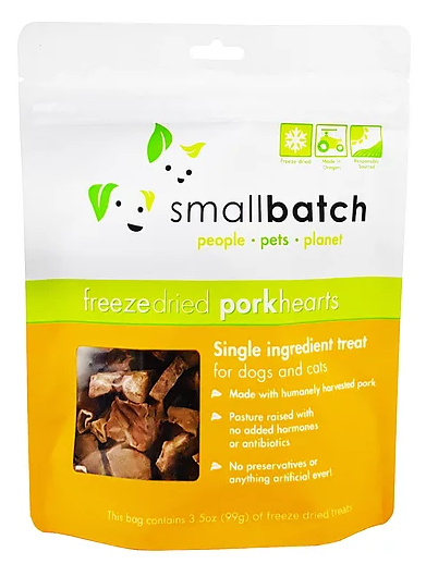 [SBT-4] Smallbatch Freeze-Dried Porkhearts Treats for Dogs (3.5oz)