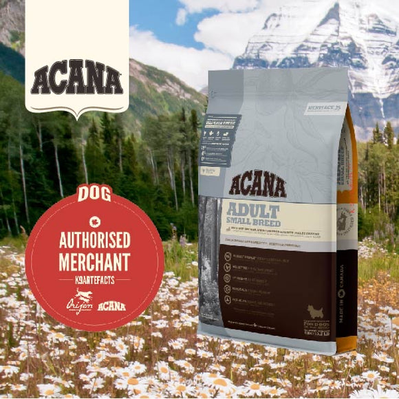 Acana Heritage Adult Small Breed Dry Food for Dogs (3 sizes)