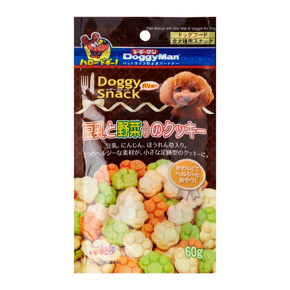 [DM-81988] DoggyMan Doggy Snack Soybean Milk & Veggie Cookies for Dogs (60g)