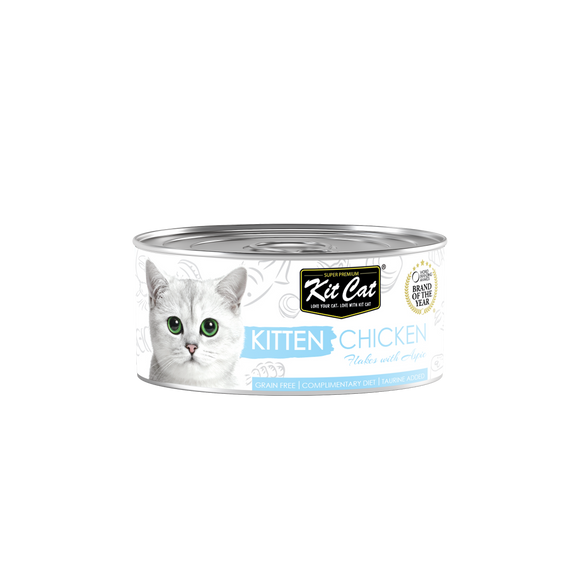 [1carton] Kit Cat Topper Series Canned Food (Kitten Chicken) 80g x 24cans