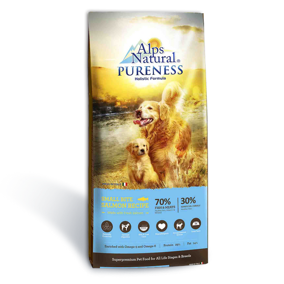 Alps Natural Small Bites Salmon Dry Food for Dogs (2 sizes)