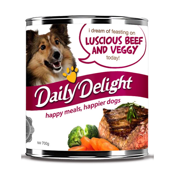 Daily Delight Luscious Beef & Veggy Canned Food (2 sizes)