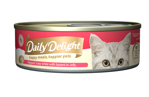 [1carton=24cans] Daily Delight Skipjack Tuna White with Sasami in Jelly (80g)