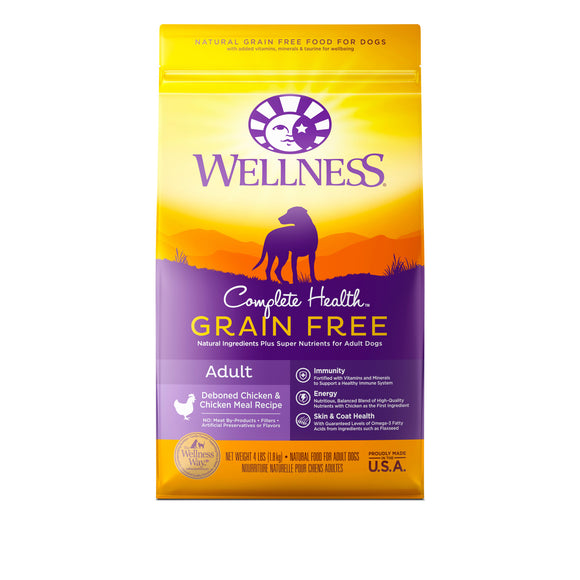 Wellness Complete Health Grain Free Deboned Chicken & Chicken Meal for Adult Dog (2 sizes)