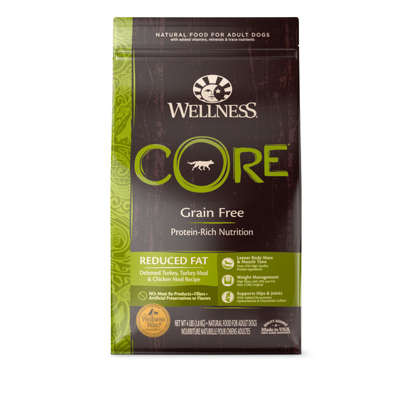 Wellness Core Grain Free Reduced Fat (Deboned Turkey, Turkey Meal & Chicken Meal) (3 sizes)