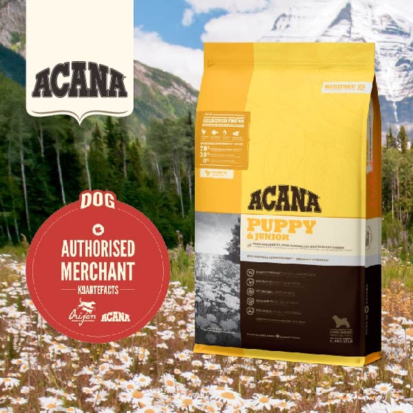 Acana Heritage Puppy & Junior Dry Food (3 sizes)