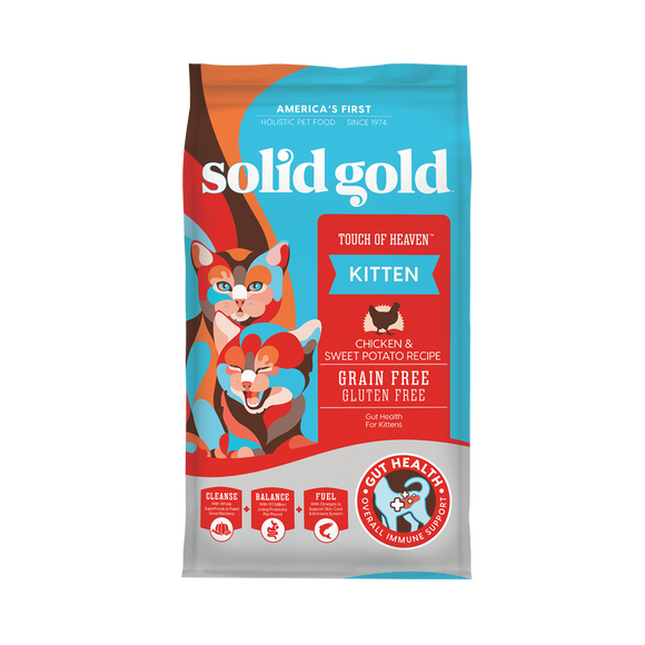 Solid Gold Touch of Heaven Chicken & Sweet Potato Recipes Dry Food for Cats (6lbs)