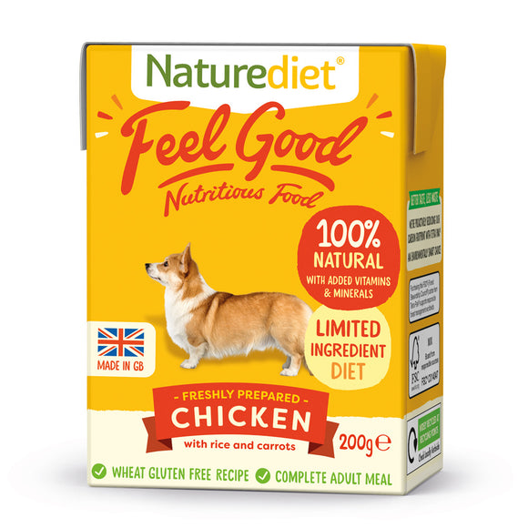 [Buy3free1] Naturediet Feel Good Nutritious Wet Food for Dogs (Chicken) 2 sizes