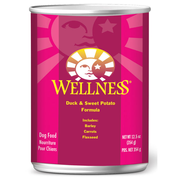 [WN-CanDuck] Wellness Complete Health Pate Duck & Sweet Potato Canned Food for Dogs (12.5oz)