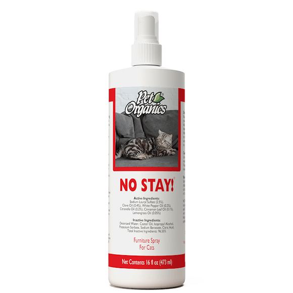 [PO504516] NaturVet Pet Organics No Stay! Furniture Spray for Cats (16floz/473ml)