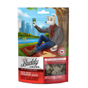 Canadian Jerky Buddy Jack's Soft Dog Training Treats - Duck with Cranberry Recipe (	7oz / 198g)