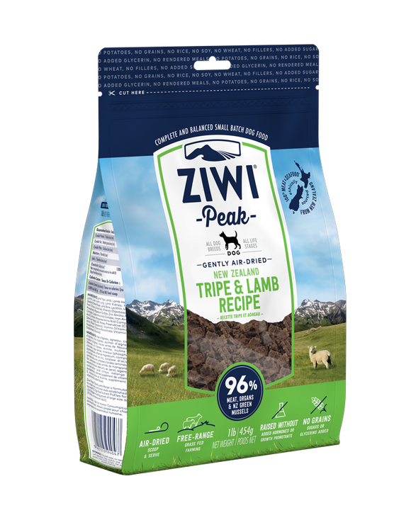 ZIWI® Peak Air-Dried Tripe & Lamb Recipe for Dogs (3 sizes)