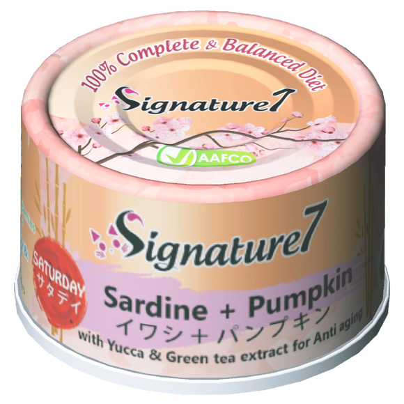 Signature 7 SATURDAY Sardine + Pumpkin Wet Food for Cats (70g)