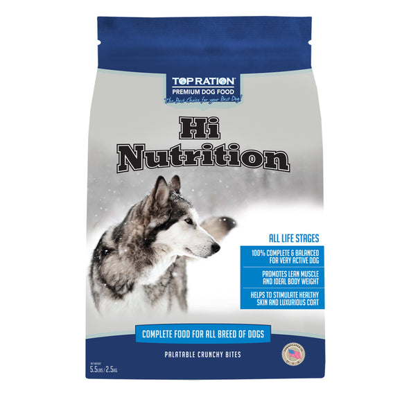 Top Ration Hi Nutrition Complete Food for Dogs (All Life Stage) 2 sizes