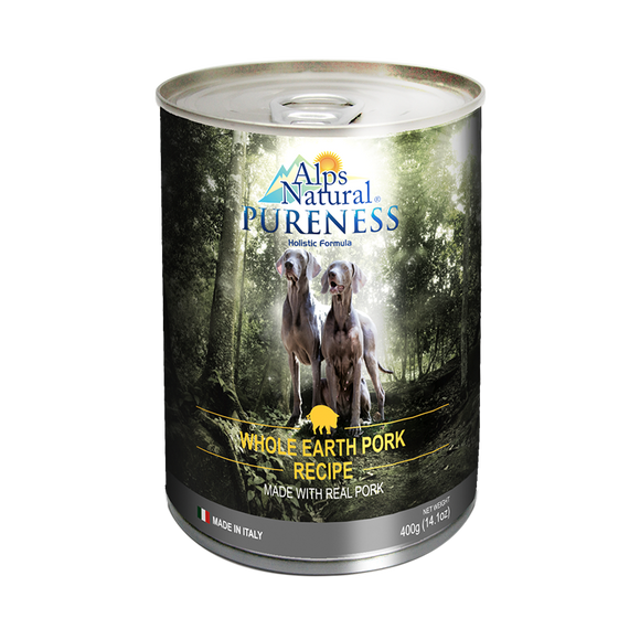 [ALP1272] Alps Natural Pureness Whole Earth Pork Canned Food for Dogs (400g)