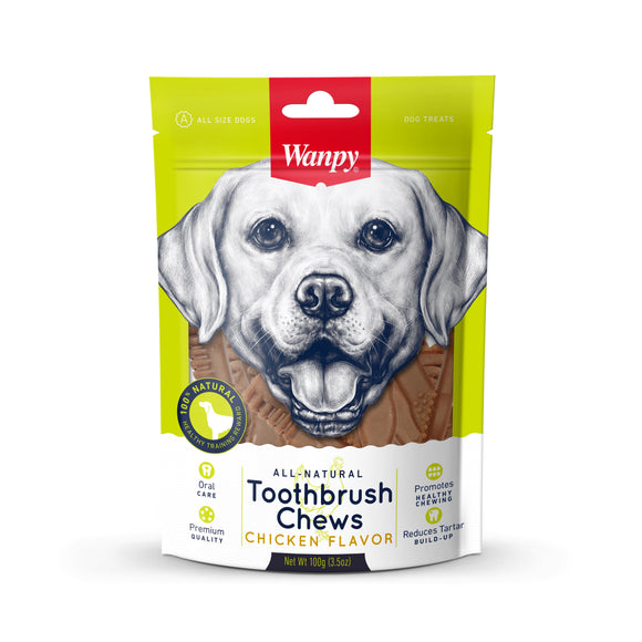 [WP-016] Wanpy Toothbrush Chews Chicken Flavors Dog Treats (100g)