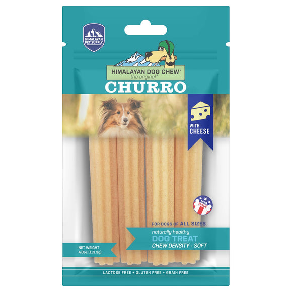 Himalayan Pet Supply Churro Himalayan Dog Chew Cheese Dog Chew Soft Density Treats (113g)