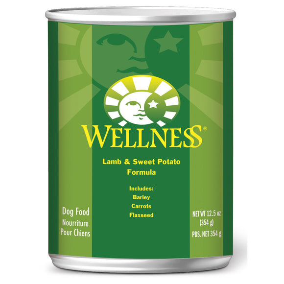 [WN-CanLamb] Wellness Complete Health Pate Lamb & Sweet Potato Canned Food for Dogs (12.5oz)