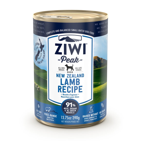 ZIWI® Peak Wet Canned Food Lamb Recipe for Dogs (390g)