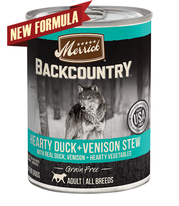 [MR-37021] Merrick Backcountry Hearty Duck + Venison Stew for Dogs (360g)