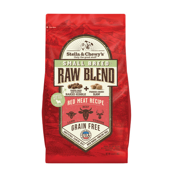 [SCK-RBRM-SB-3.5] Stella & Chewy's Freeze Dried Small Breed Red Meat Raw Blend Kibbles for Dogs (3.5lb)