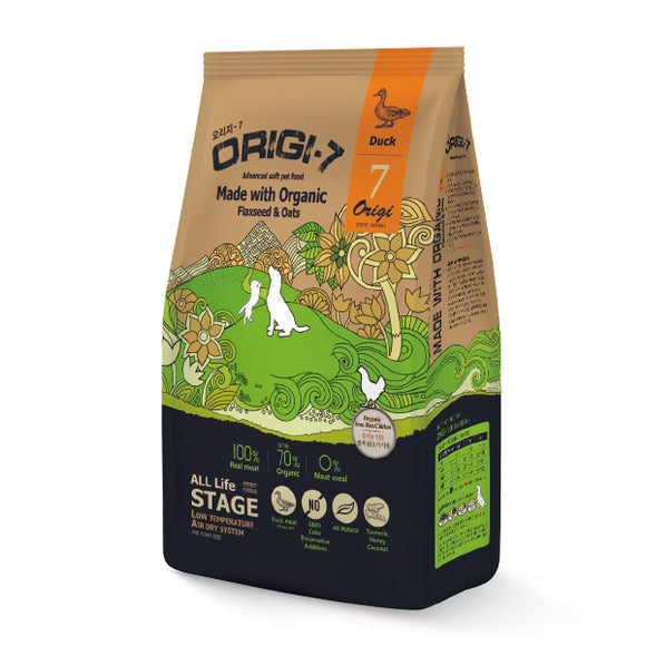 [BWOGDUC1.2] Bow Wow Origin-7 Duck Air Dried Food for Dogs 1.2kg (200g x 6bags)