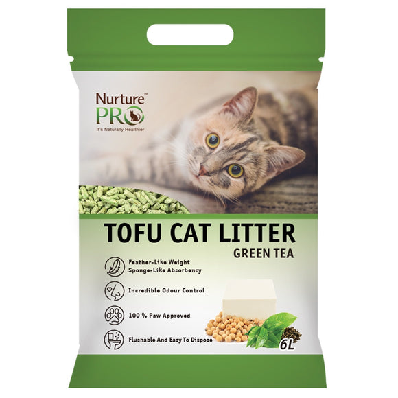 Nurture Pro Green Tea Tofu Cat Litter (6L/pack)