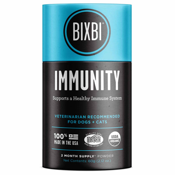 Bixbi Immunity Powdered Mushroom Supplement for Dogs & Cats (60g)