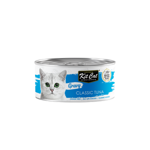 [1carton] Kit Cat Gravy Series Canned Food (Classic Tuna) 70g x 24cans