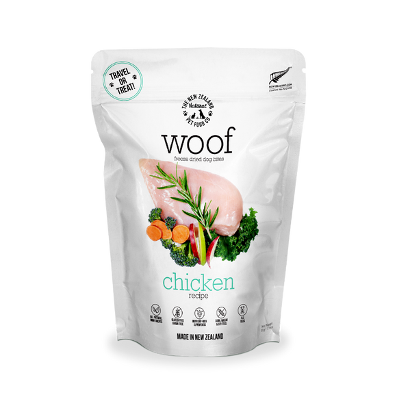 NZ Natural WOOF Freeze Dried Raw Food (Chicken) 3 sizes