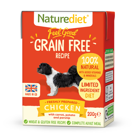 [Buy3free1] Naturediet Feel Good Grain Free Wet Food for Dogs (Chicken) 2 sizes