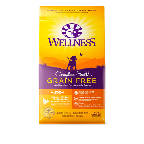 Wellness Complete Health Grain Free For Puppy (Deboned Chicken, Chicken Meal & Salmon Meal) 3 sizes