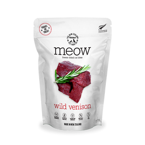 NZ Natural MEOW Freeze Dried Raw Food for Cats (Wild Venison) 2 sizes