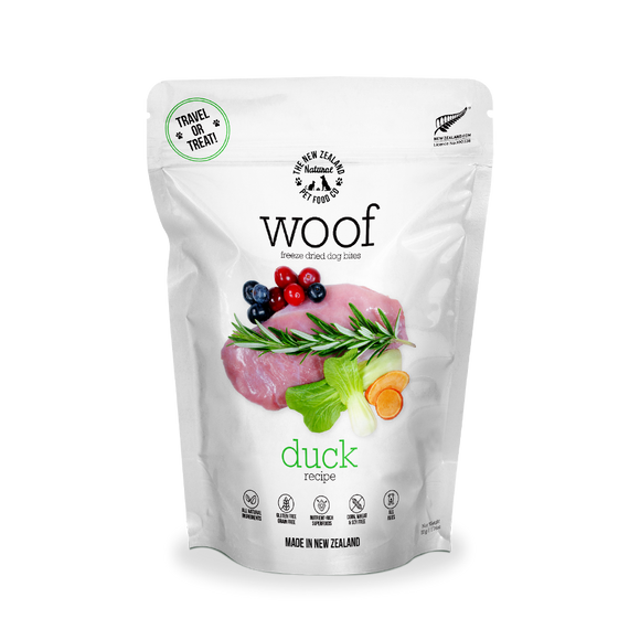 NZ Natural WOOF Freeze Dried Raw Food (Duck) 3 sizes