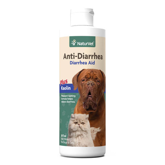 [NV-AntiDia] NaturVet Anti-Diarrhea Aid Plus Kaolin (8floz/236ml)
