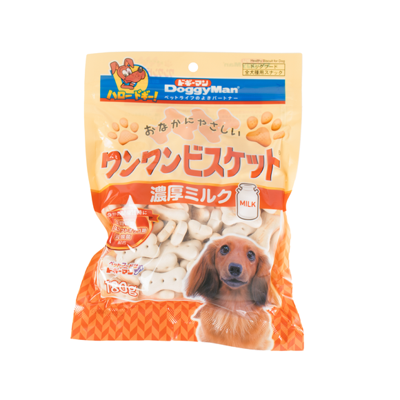 [DM-82288] DoggyMan Bowwow Biscuit with Rich Milk for Dogs (180g)
