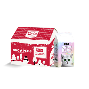 [2 for $15] Kit Cat Snow Peas Antibacterial Clumping Cat Litter (Confetti) 7L