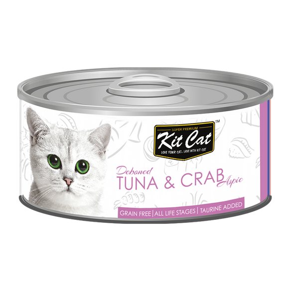 [1carton] Kit Cat Topper Series Canned Food (Tuna & Crab) 80g x 24cans