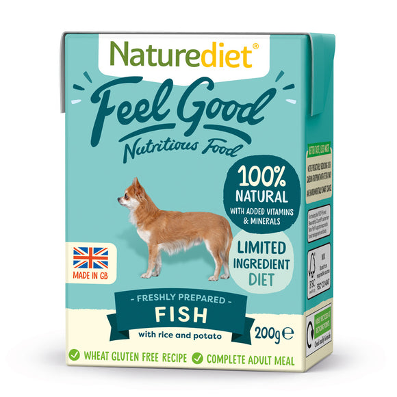 [Buy3free1] Naturediet Feel Good Nutritious Wet Food for Dogs (Fish) 2 sizes