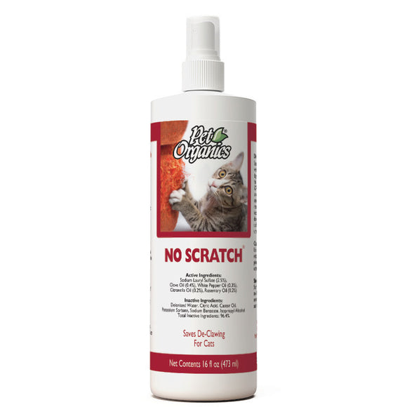 [PO514116] NaturVet Pet Organics No Scratch for Cats (16floz/473ml)